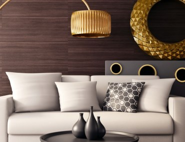 gold decor for living room