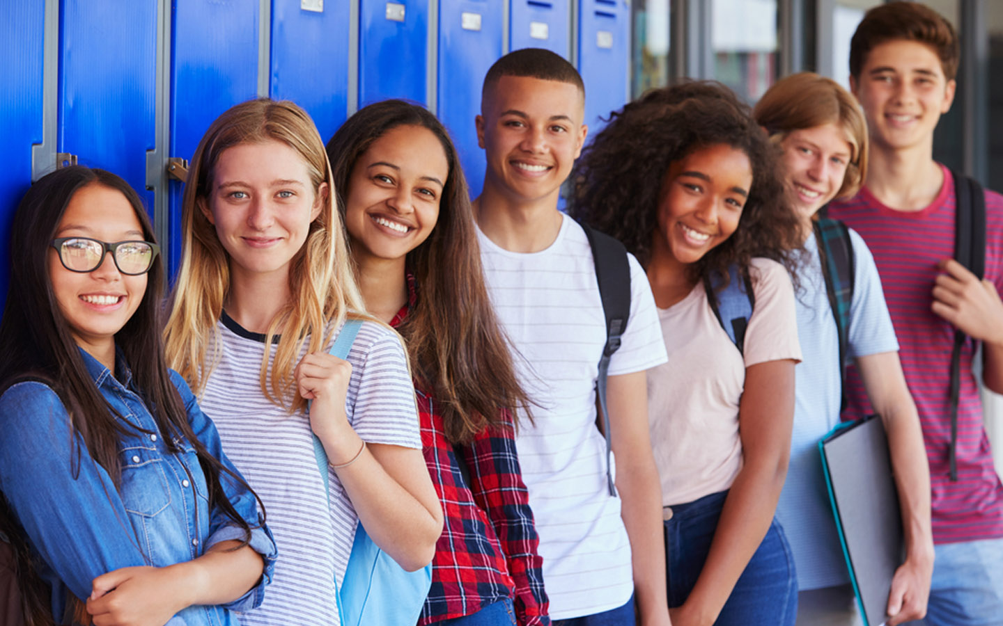 teenage students at a government college