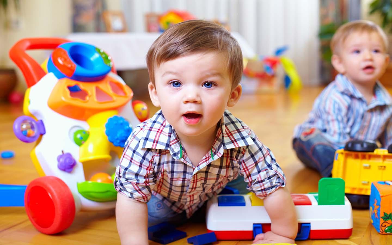 Kid playing at a preschool