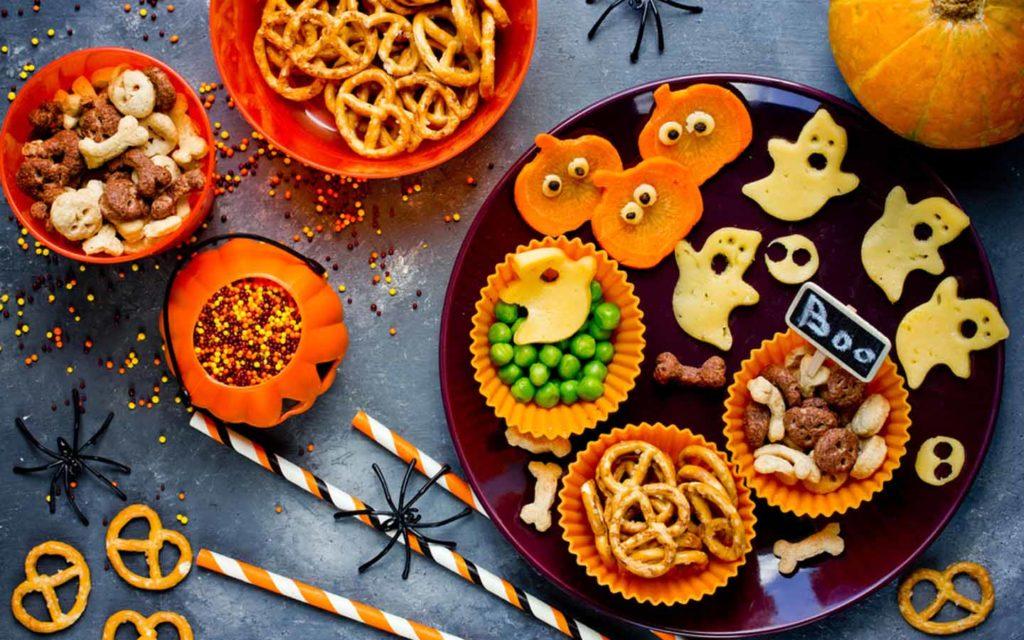 kids treat at Halloween