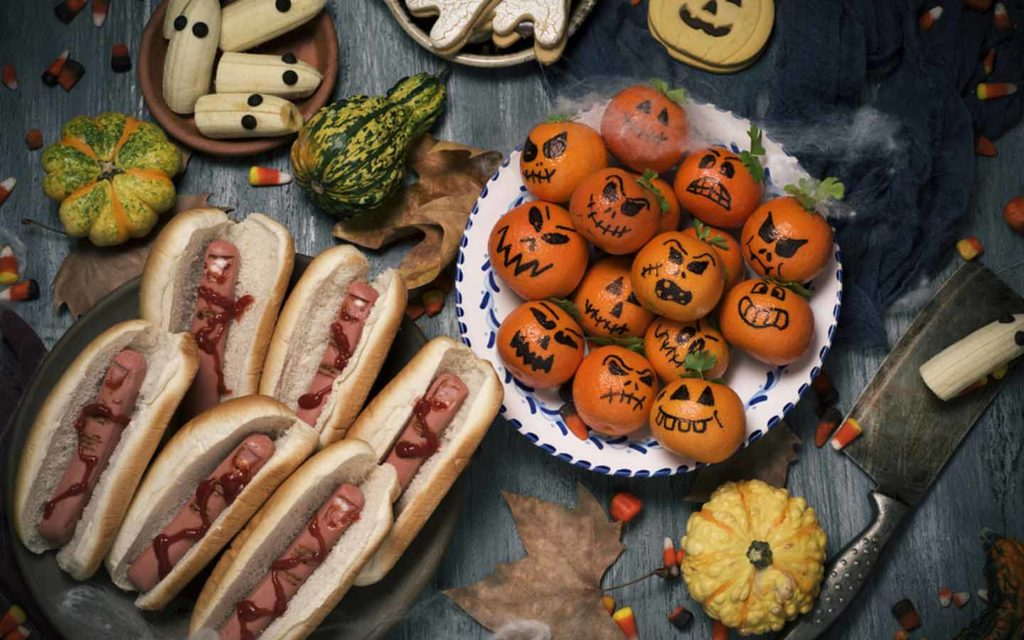 pumpkin sushi rice balls and other treats