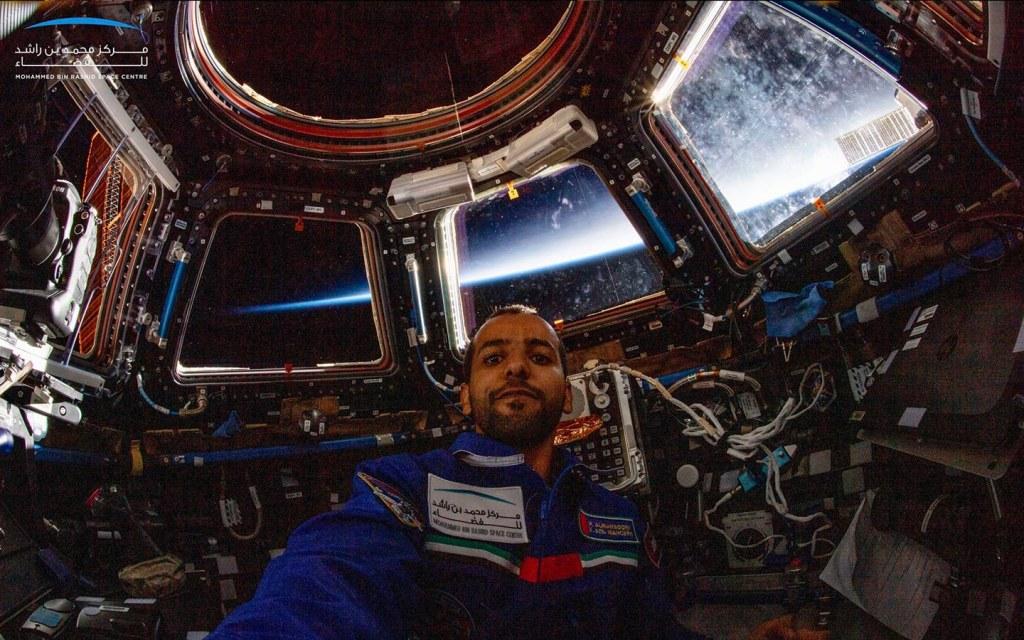 UAE Emirati astronaut selfie from space