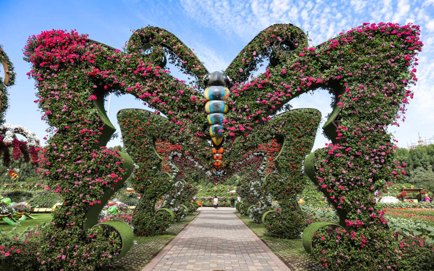 hedge shaped butterfly at Dubai Butterfly Garden