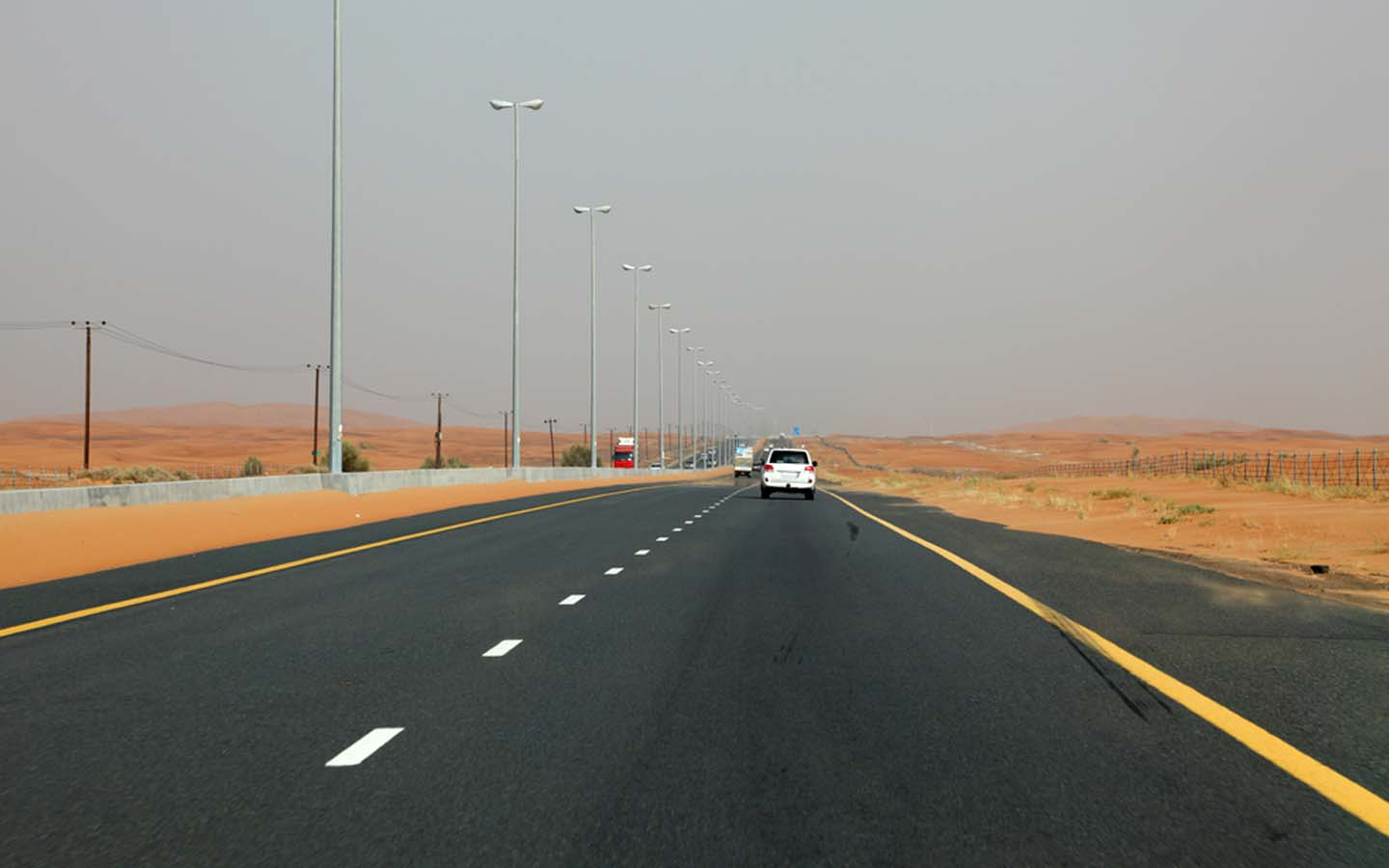 highway in the UAE desert