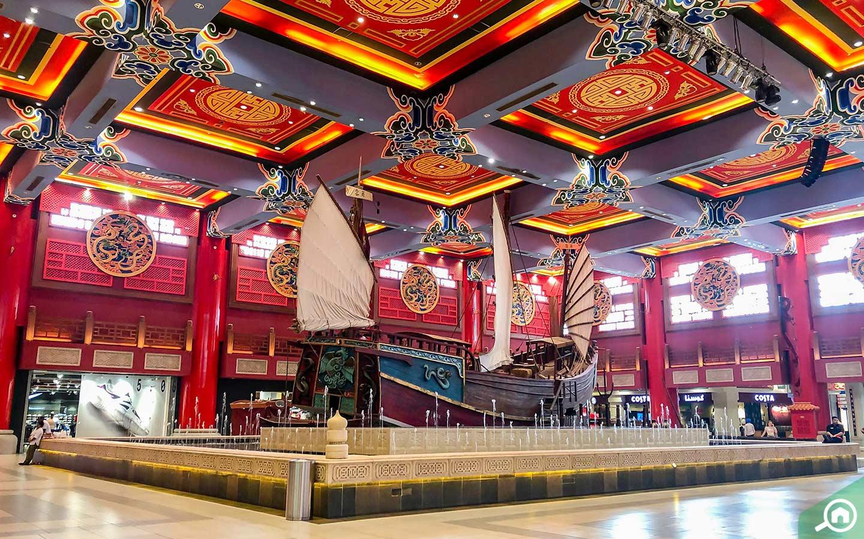 View of the Chinese Junk at Ibn Battuta Mall