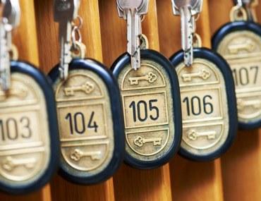 Keys of hotel rooms
