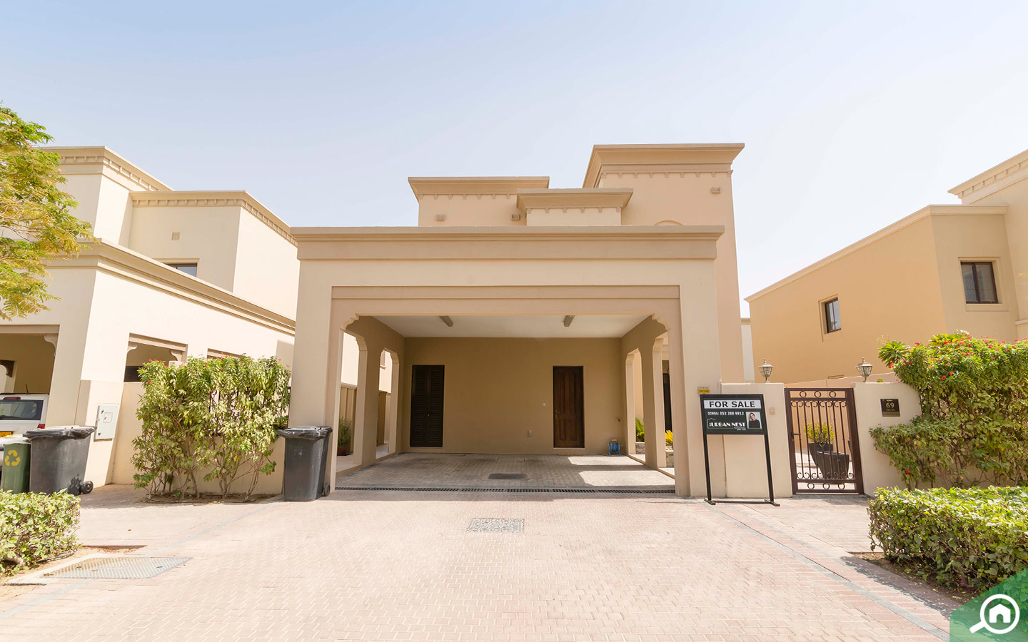 Outdoors of villa for sale in Arabian Ranches