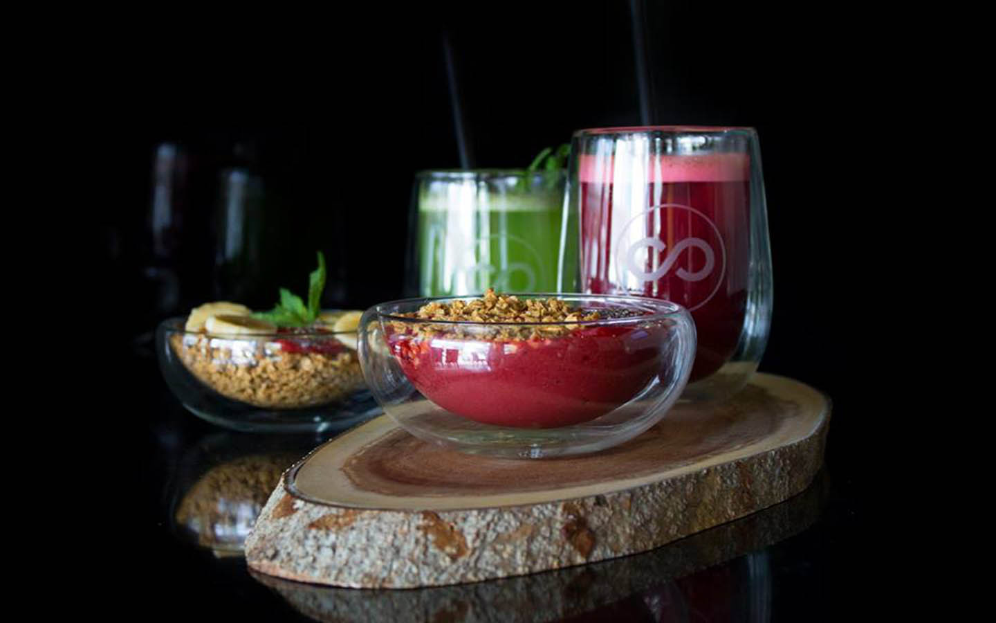 healthy desserts and drinks