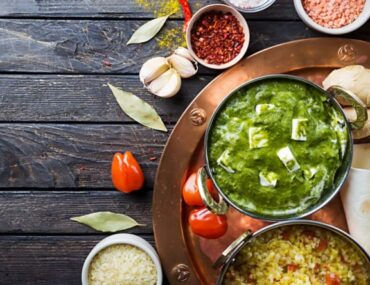 Indian food in a platter