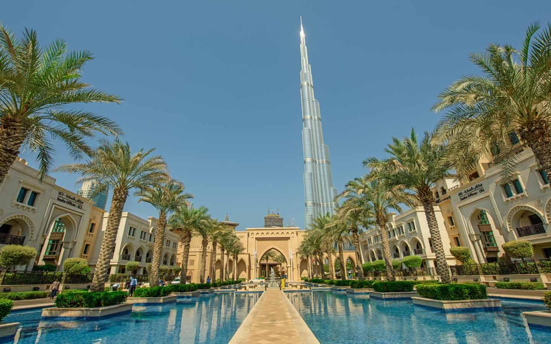 Interior of a hotel in Dubai