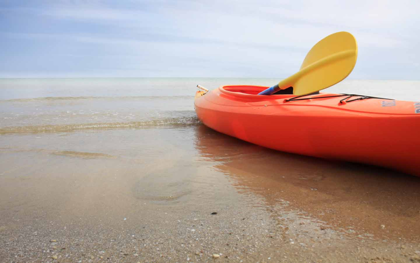 kayak on the beach