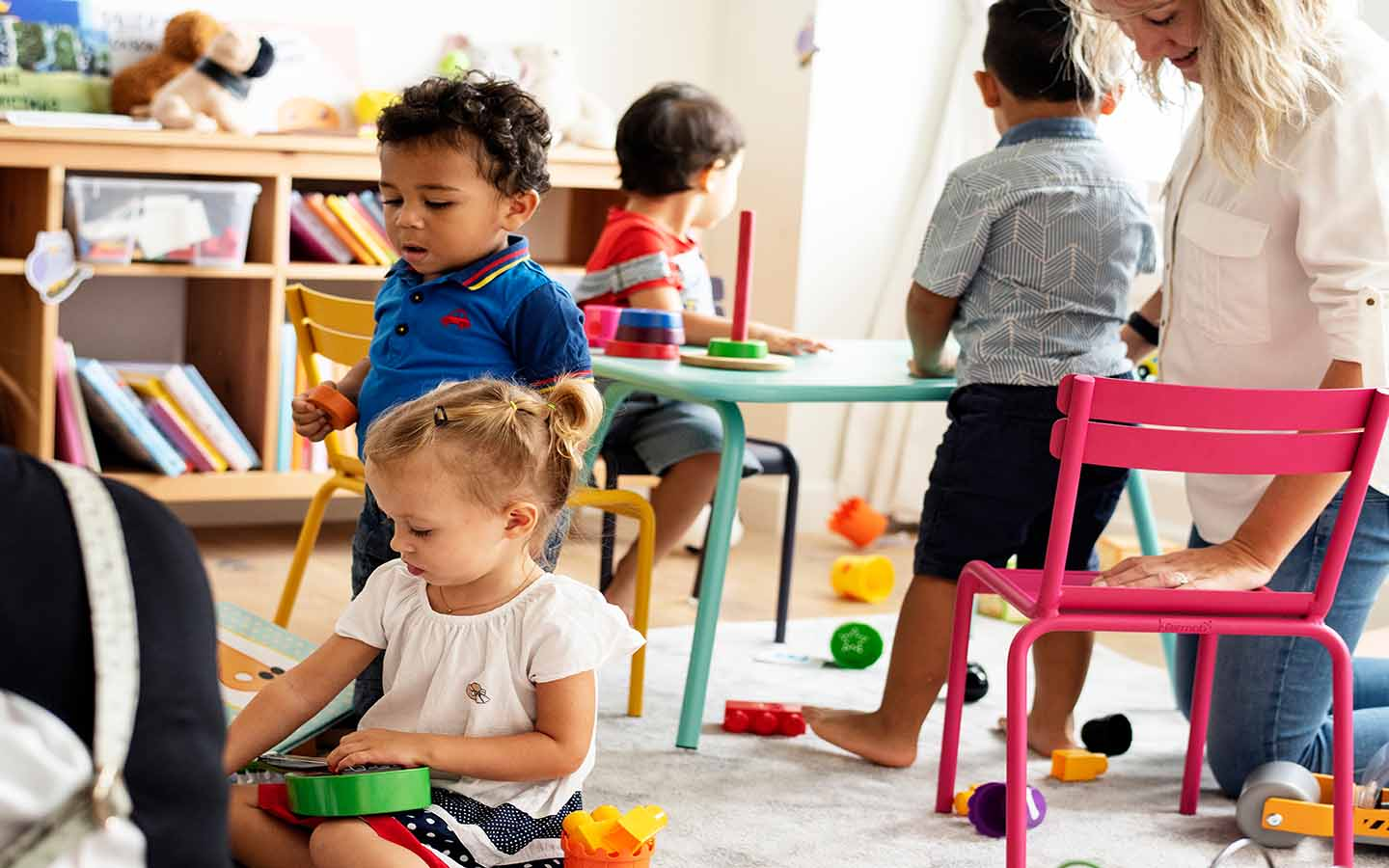 kids playing in a nursery