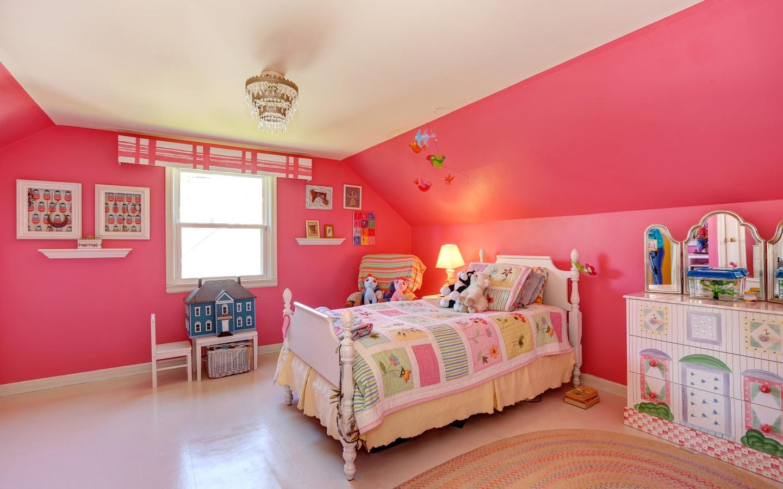 غرفة نوم للأطفال بالوان مميزة