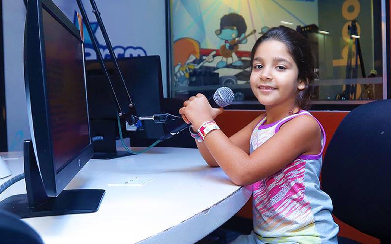 Kids at FM station in KidZania