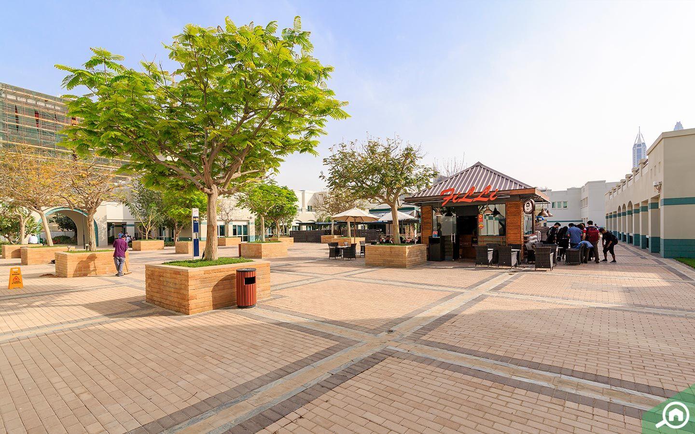 ساحة للتنزه داخل حديقة المعرفة في دبي