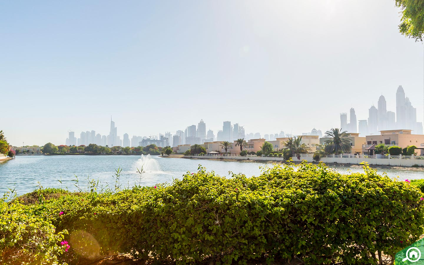 View of The Lakes located next to Emirates Hills