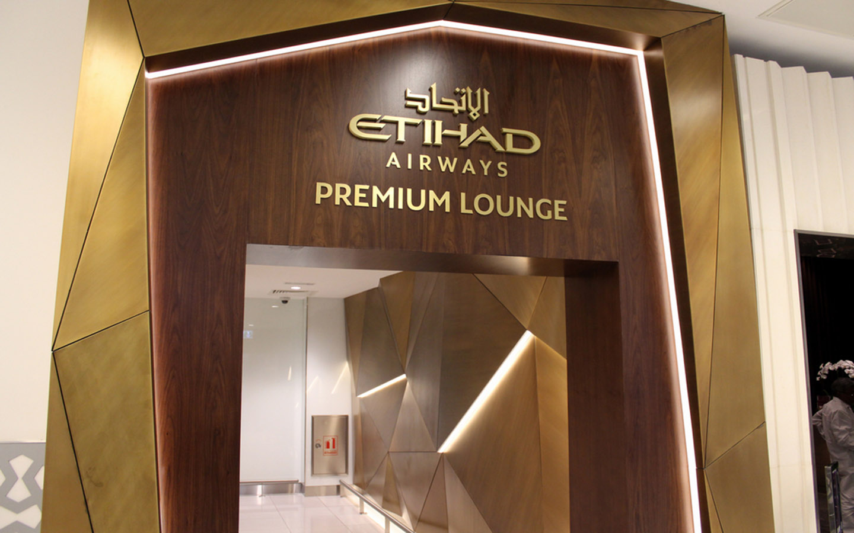 Etihad Airways Premium Lounge entrance