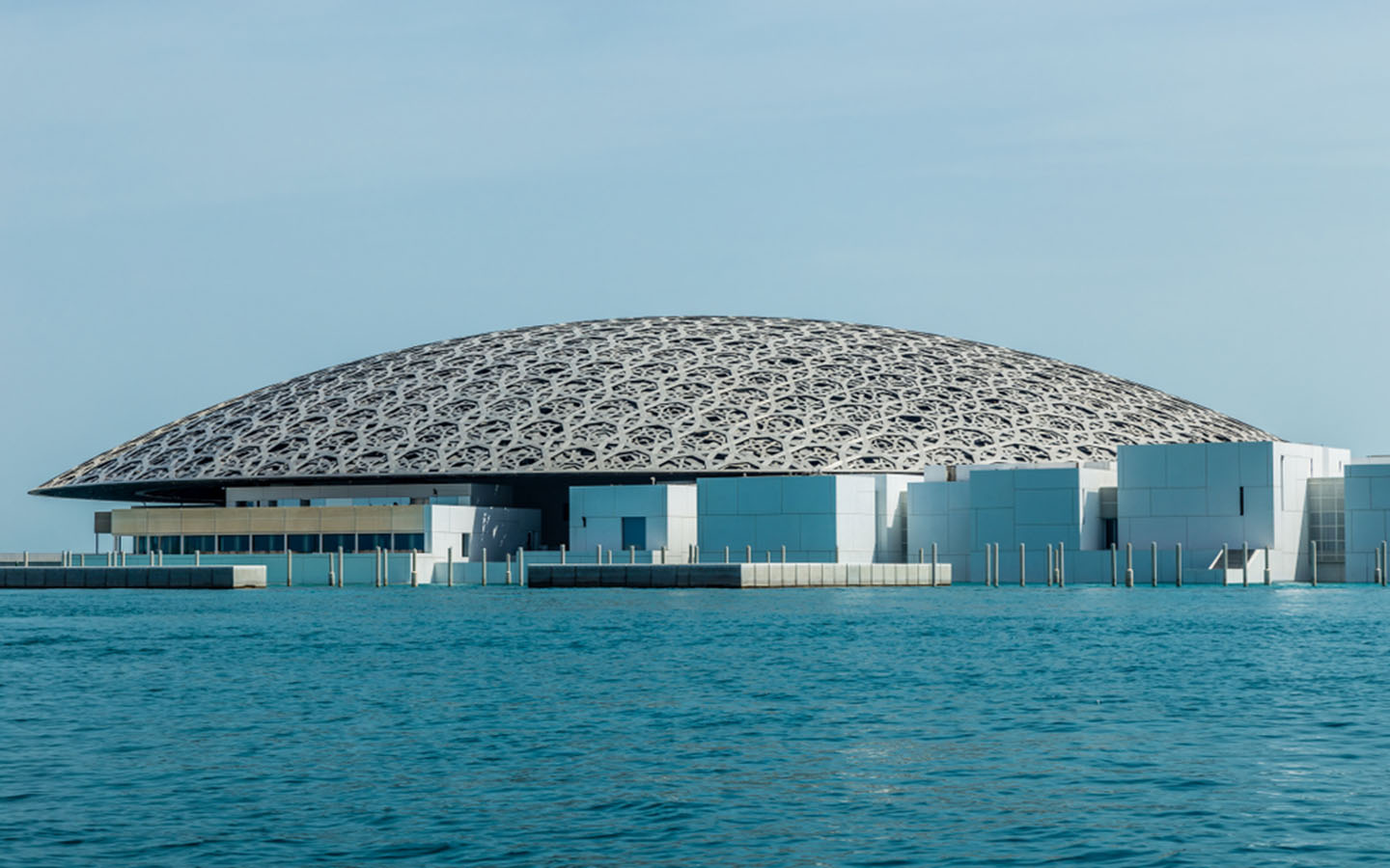 The Rain of Light Dome at Louvre Museum Abu Dhabi