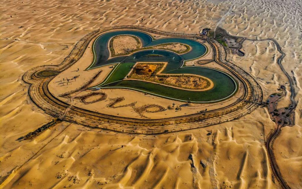 Love lakes in Dubai