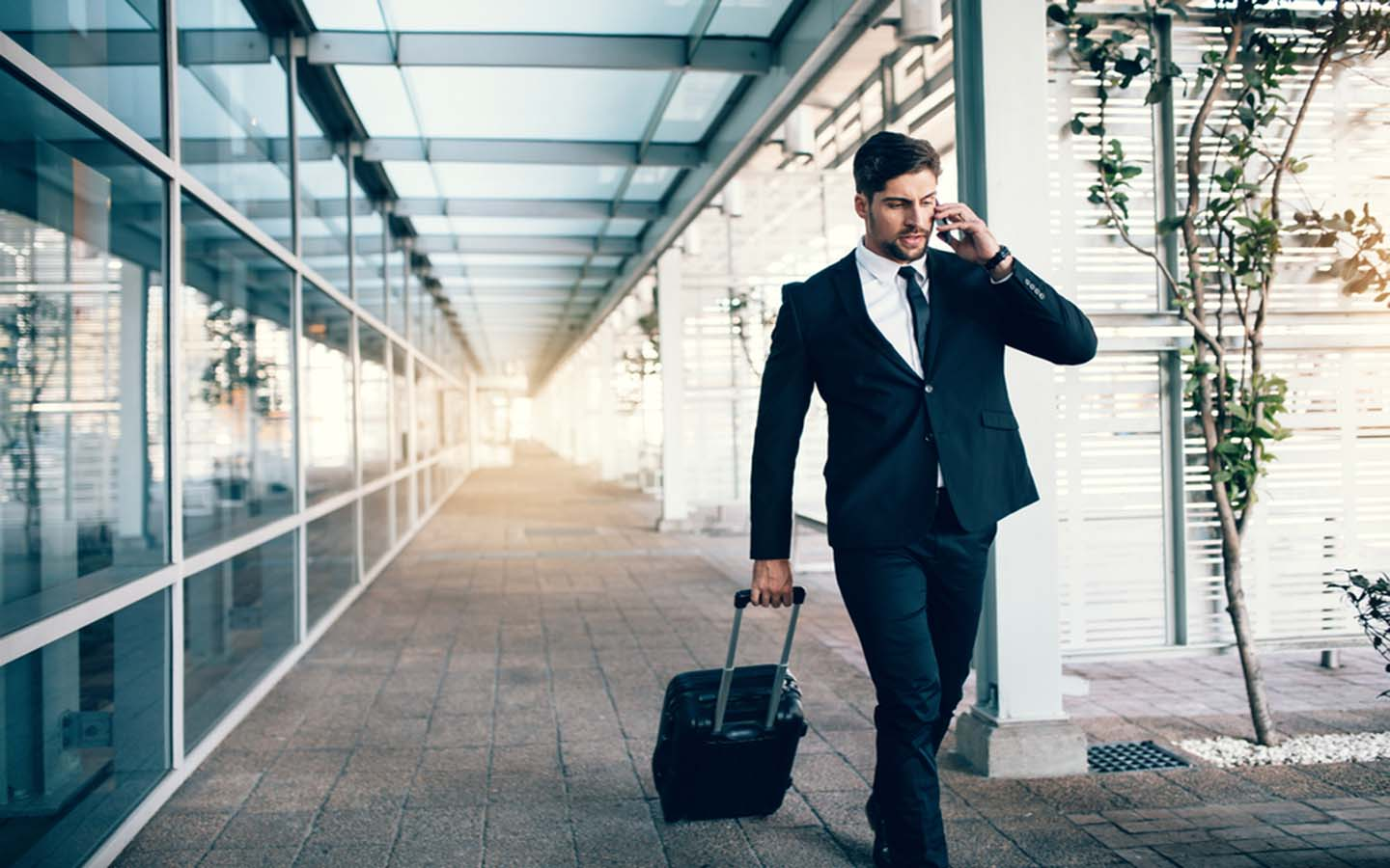 man on a business trip