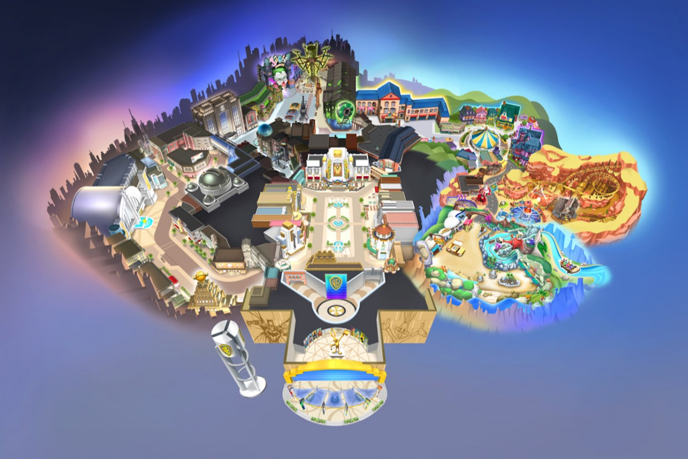 All the lands in Warner Bros World Abu Dhabi