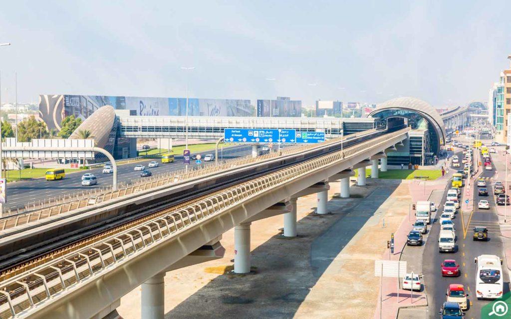 the Mashreq Metro Station