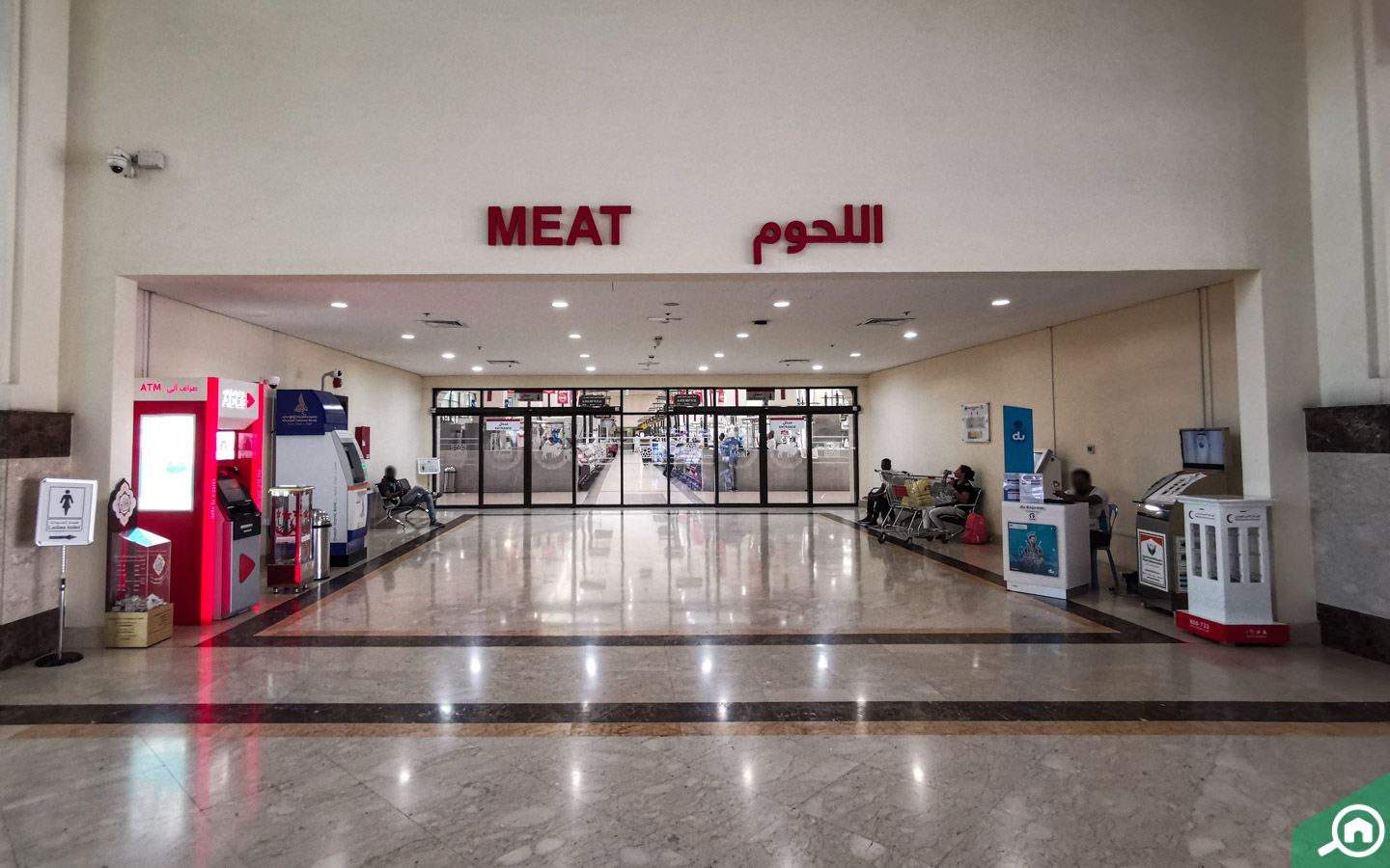 Neat and clean meat section in Sharjah Fish Market