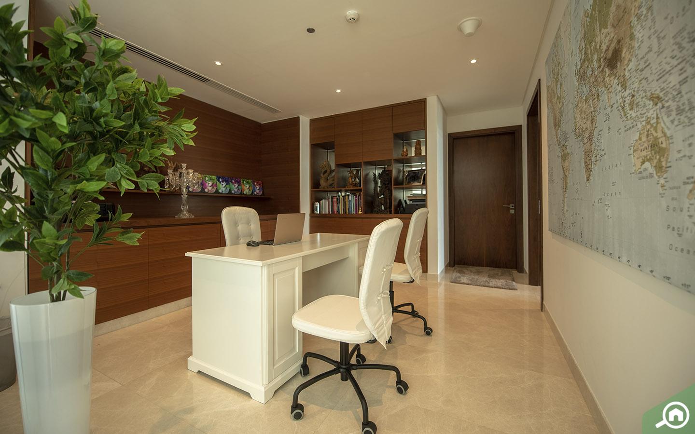 office space in the Dubai marina penthouse