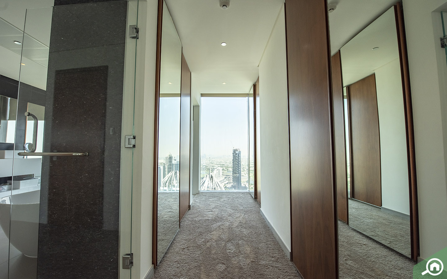 hallway in the Marina Gate penthouse