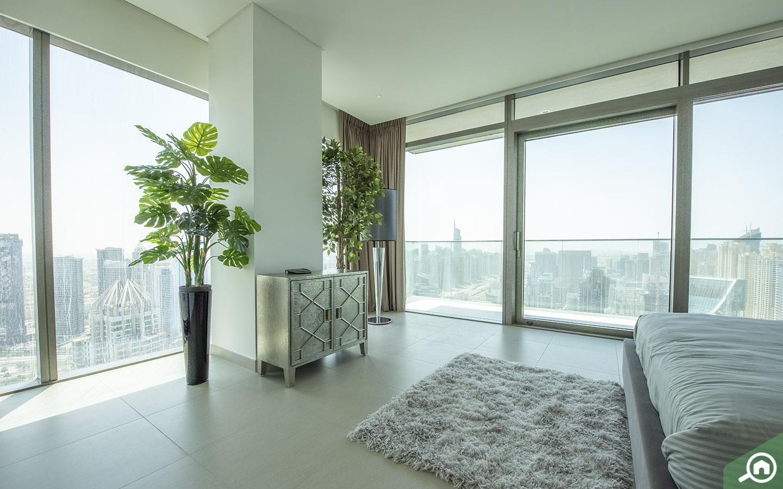 bedroom views from the Dubai Marina
