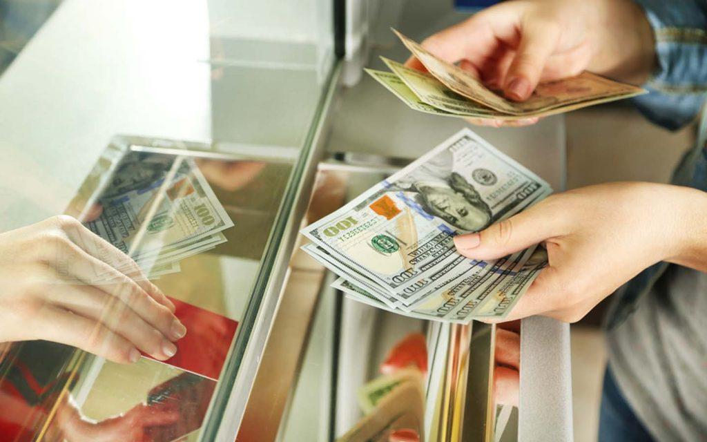 money exchanging