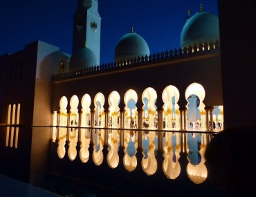 The grand mosque of Abu Dhabi