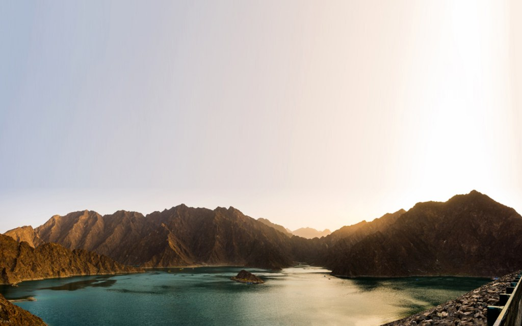 Hatta Dam is a popular stop during road trips from Dubai