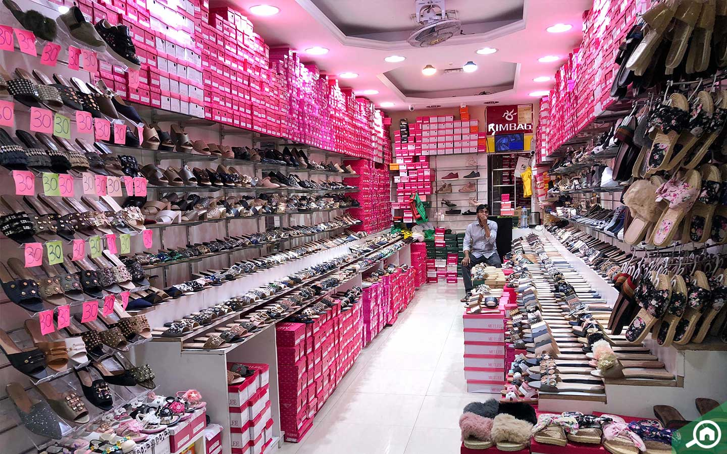 Footwear store at Naif Souk in Dubai