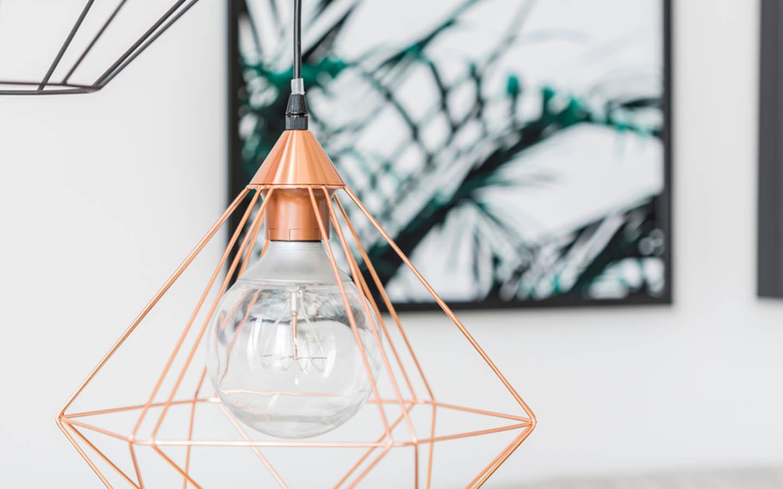 Close-up of a copper bulb