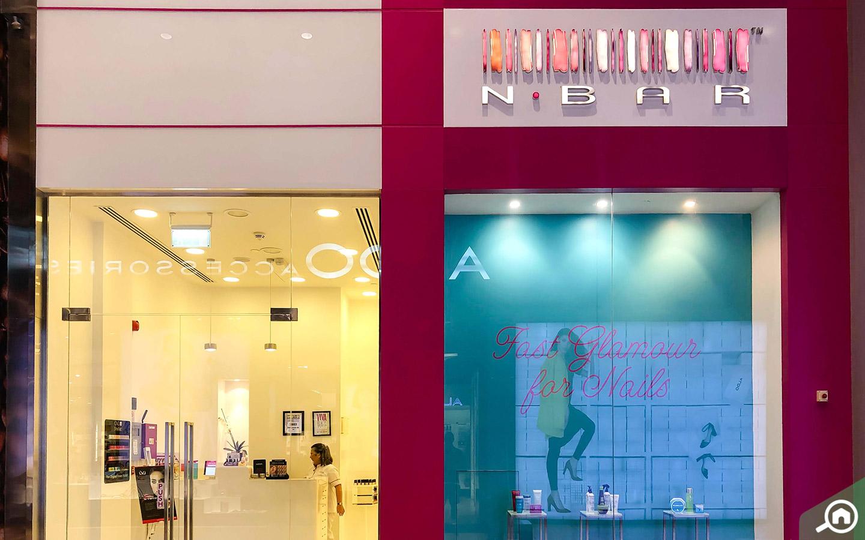 View of the NBAR Beauty Salon in Ibn Battuta Mall