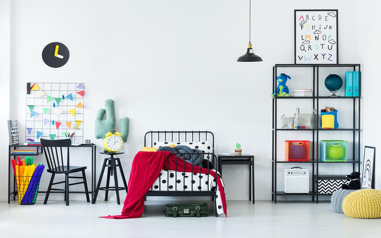 غرفة نوم ذات تصميم هندسي مميز