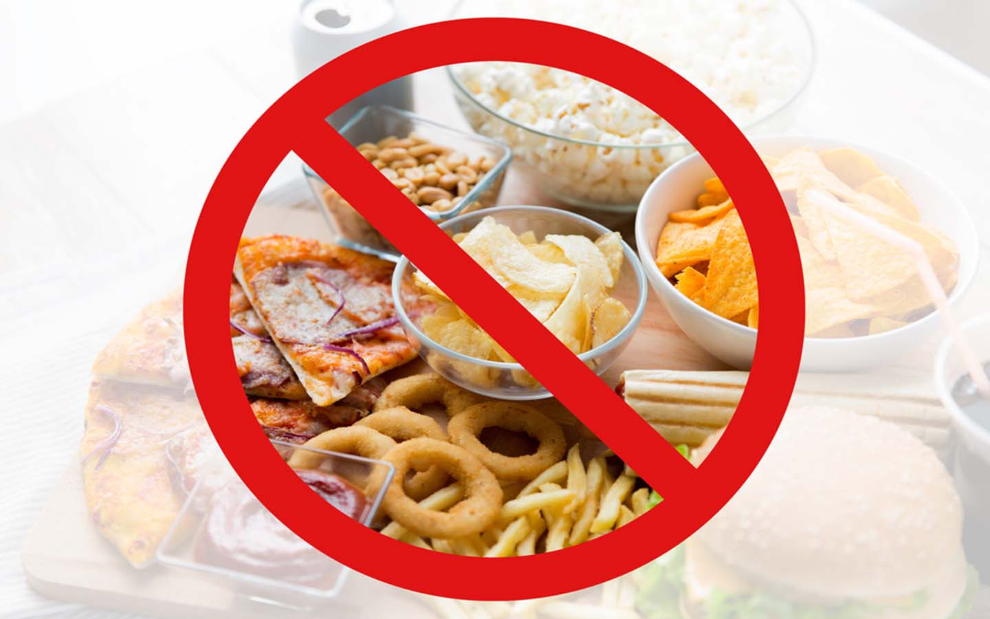 Say No to fried and processed foods