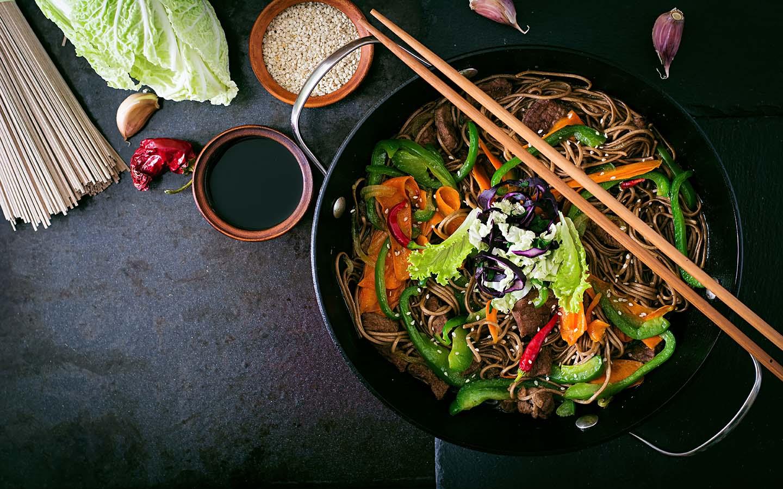 A Pan Asian noodle wok