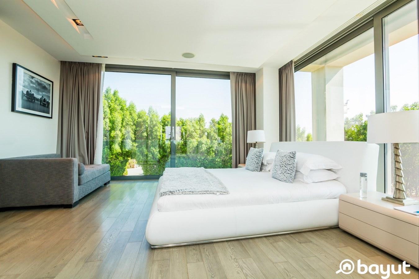 bedroom with views of nature in Nurai Island Abu Dhabi