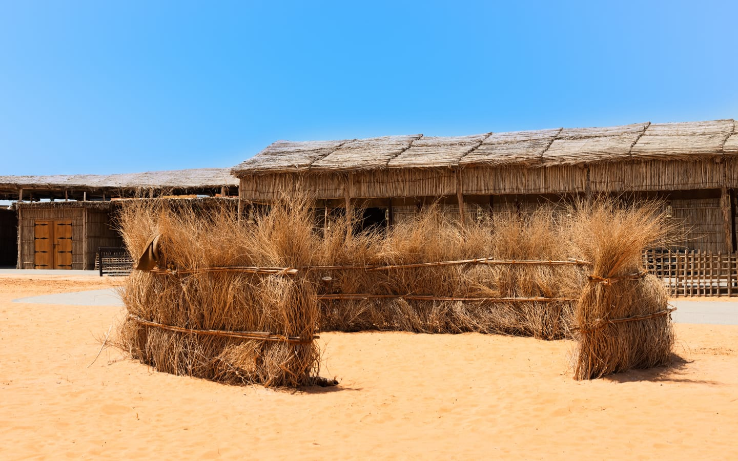 Areesh homes made of palm trees