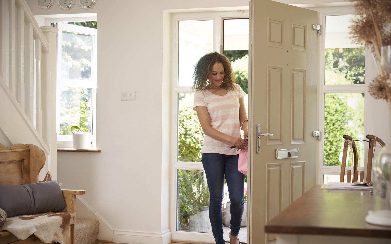 open front door in home