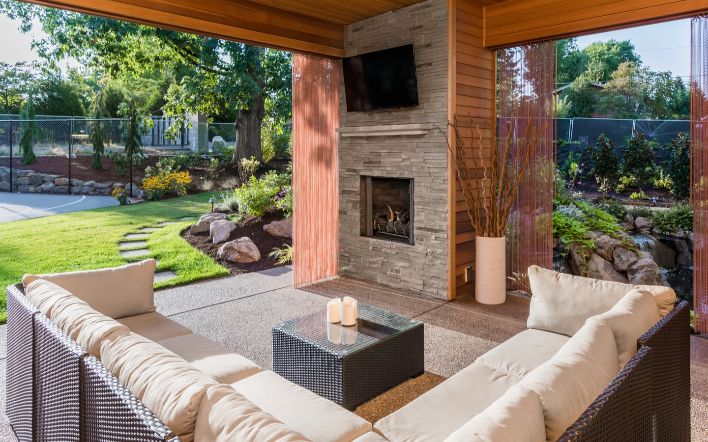Create a resort in your backyard by upgrading the porch.