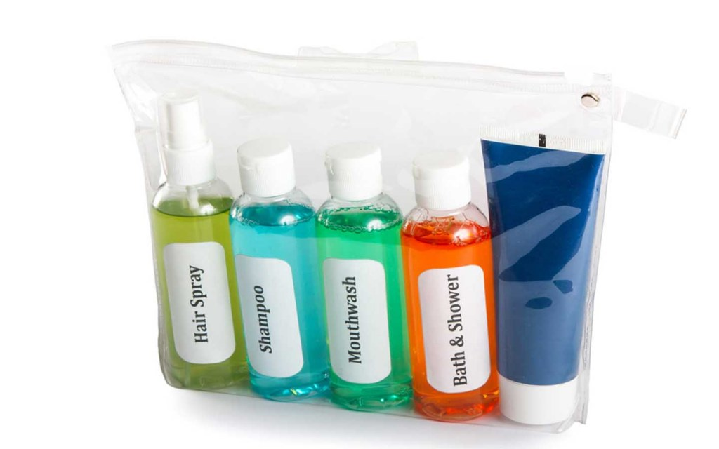 packing liquids for travel