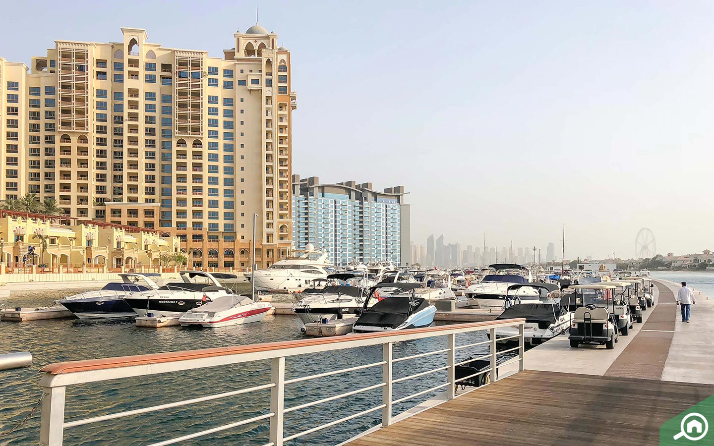 View of Shoreline apartments on Palm Jumeirah, one of the freehold areas in Dubai