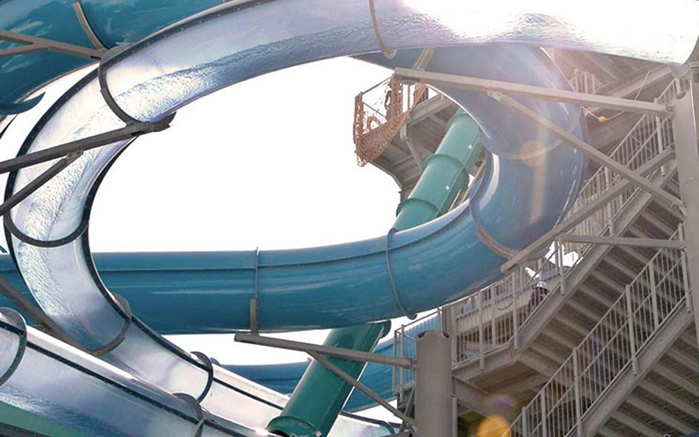 Mega tunnel and chute slides at Laguna Waterpark