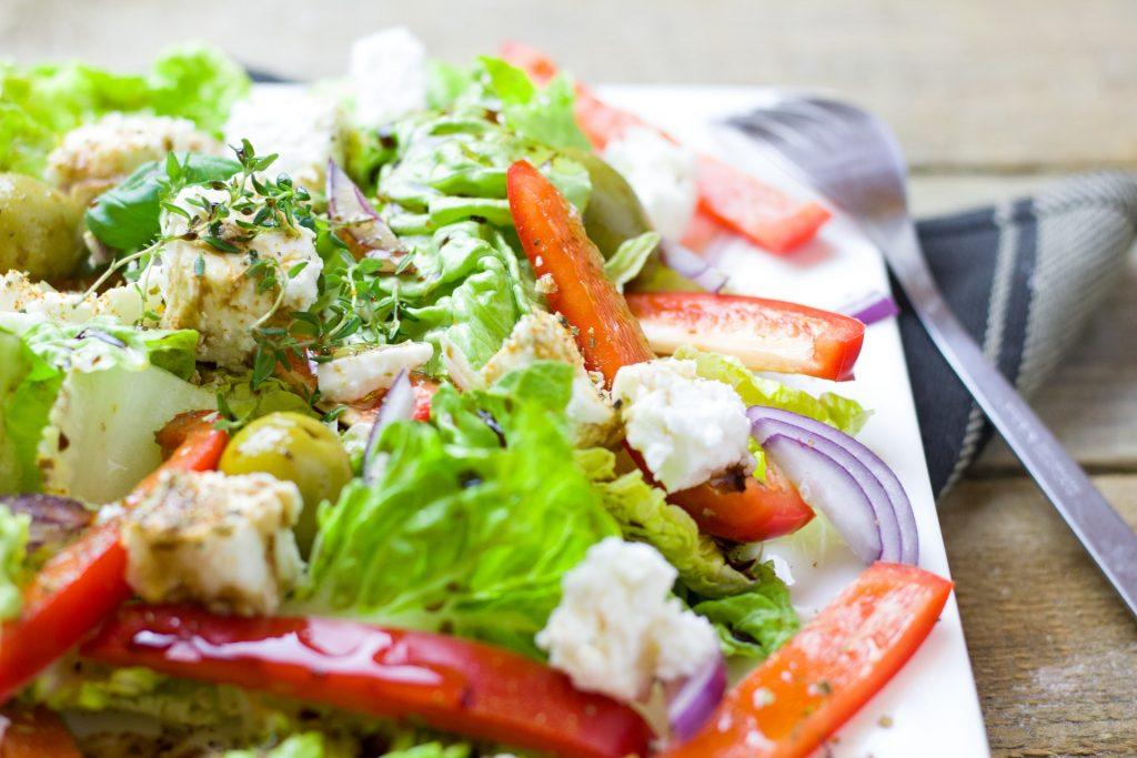 Herbs on a fresh salad, growing your balcony garden