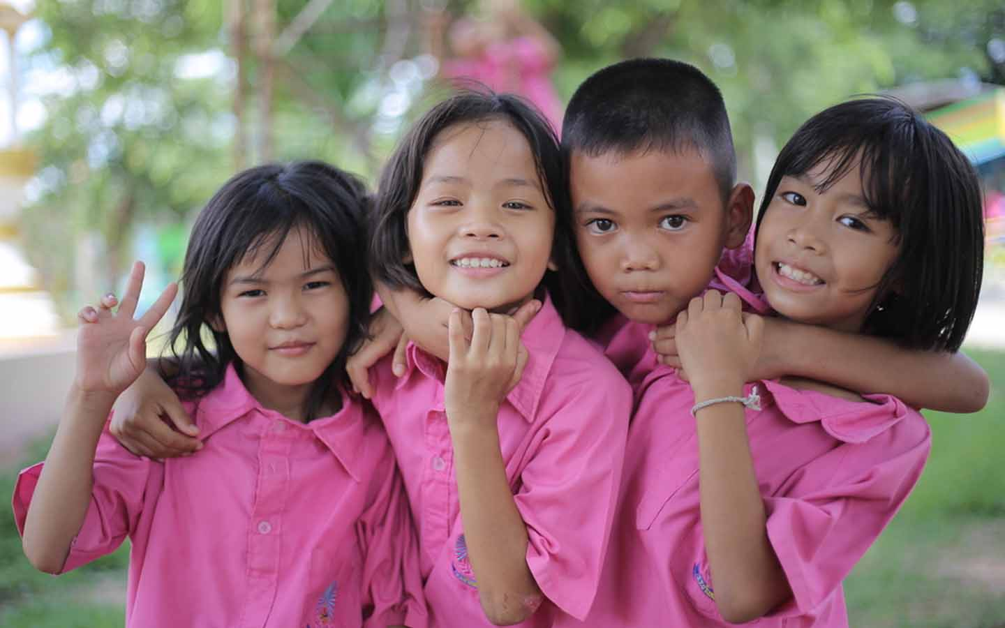 A group of kids at a filipino school in Dubai
