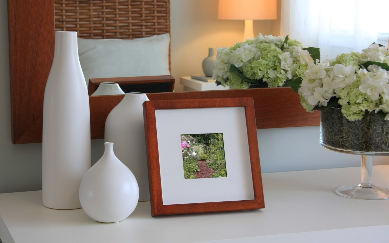 Photos on nightstand