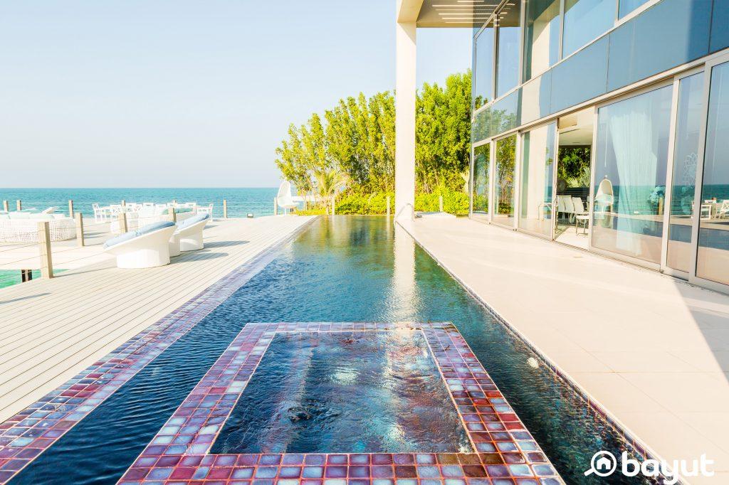 pool at a Nurai Island villa